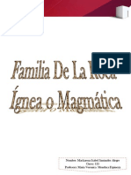 Trabajo Familia de Roca Ignea
