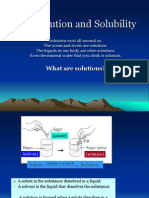 5.4 Solution and Solubility