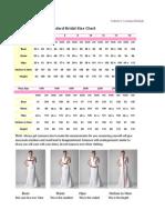 Standard Bridal Size Chart-Imose