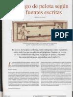 El Juego de Pelota Fuentes Escritas - Arqueologia Mexicana