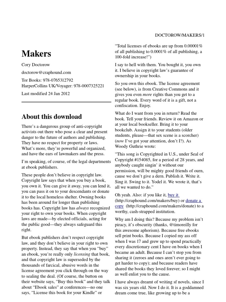 fd6144190a90 Cory Doctorow - Makers A4