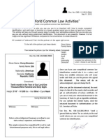 How to create your own common law I.D.