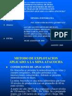Metodo de Explotacion Aplicado a La Mina Atacocha