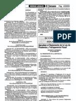 Reglamento DS 039 2000 EF