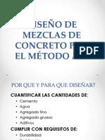 DISEÑO  MEZCLAS DE CONCRETO