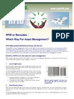002 Barcodes vs RFID Fact Sheet by CoreRFID