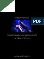 AirCraft Circus Foundation Course in Circus Arts Prospectus 2018
