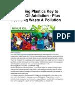 Prioritizing Plastics Key to Kicking Oil Addiction