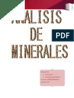 Trab Mine Analisis Minerales