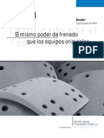 Catálogo de Balatas o guarniciones de freno Bendix (español)