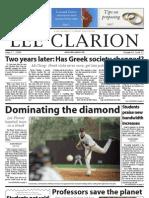 Lee Clarion Volume 63, Issue 12 | April 17, 2009