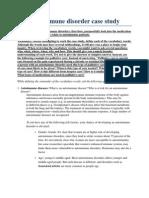 Autoimmune Disorder Case Study