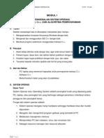 Modul 1 (Pengenalan So, Ide Visual c++, Algoritma Pemrograman