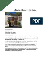 Desain Rumah 2 Lantai Di Lahan 8 x 17