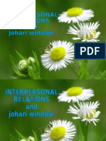20090501 - Interpersonal Relations and Johari Window -