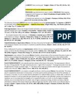 Treatise - False Arrest & Imprisonment Cases Markup