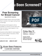 Have You Been Screened? Free Screening for Breast Cancer