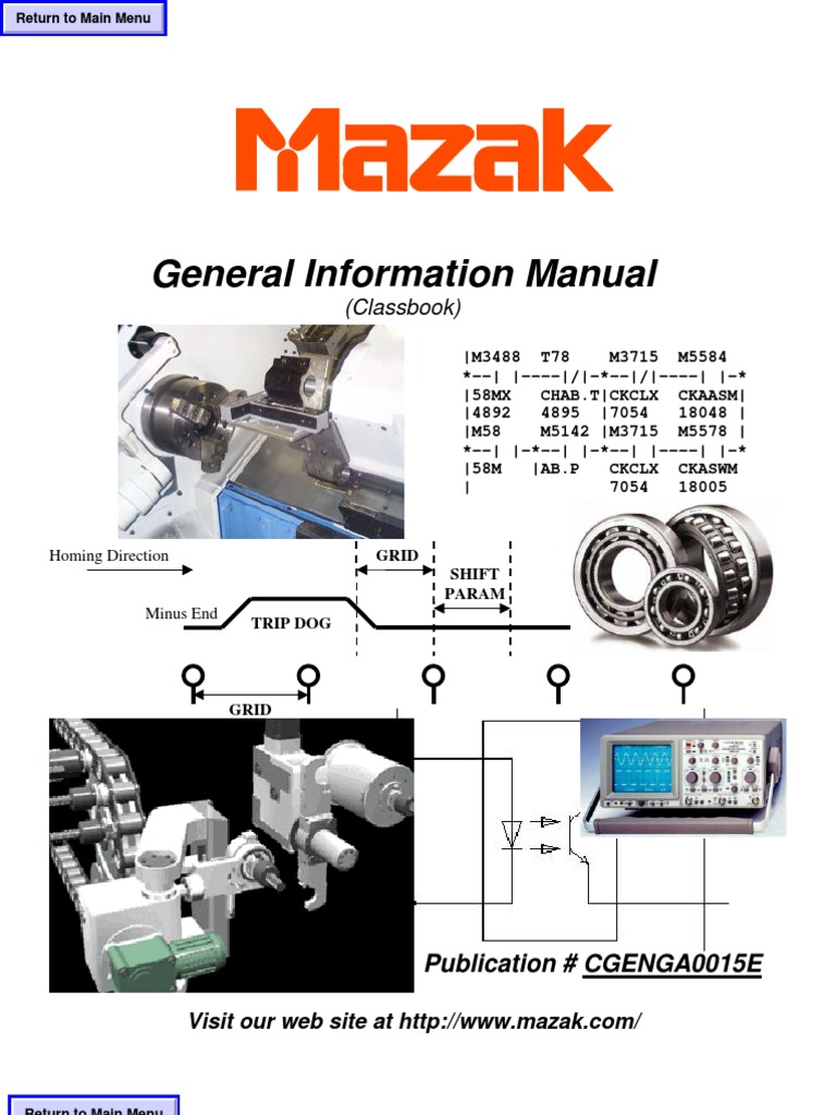 mazak general information manual cgenga0015e pdf transformer rh pt scribd com Mazak Operating Manual Mazak Programming