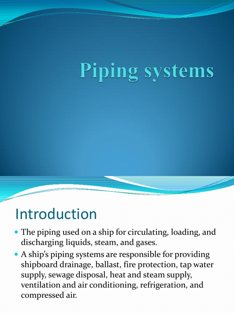 Introduction pipe system - Introduction Pipe System 59