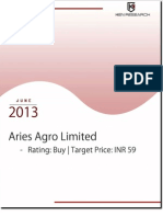 Aries Agro Limited expanding its operations nationally and internationally