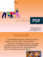 A Familia. Sociologia Power Point