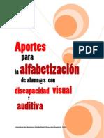 Aportes Alfabetizacion Alumnos Discapacidad Visual y Auditiva FINAL