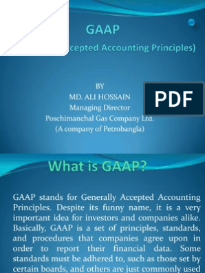 GAAP ppt | Generally Accepted Accounting Principles (United