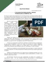 13/11/12 Germán Tenorio Vasconcelos Ingerir Altos Niveles de Endulzantes y Grasas, Potencializan La Diabetes