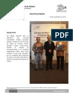 20/11/12 Germán Tenorio Vasconcelos PIE DE FOTO, RECONOCIMIENTO A OFTALMÓLOGOS