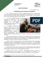 21/11/12 Germán Tenorio Vasconcelos Certifica y Abandera Sso a 55 Escuelas Como Saludables