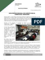 27/11/12 Germán Tenorio Vasconcelos Inicia reunión regional Sur - Sureste para el combate del tabaquismo