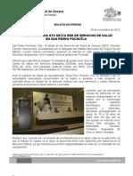 28/11/12 Germán Tenorio Vasconcelos pone en Marcha Sexta Red de Servicios de Salud en San Pedro Pochutla