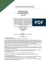 37. Regolamento Interno Consiglio Valle d'Aosta 14.07.2010 - Titolo 4 - Capo 1-3