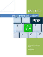 DBMS Final Report Music Database Library