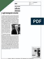 17/06/2013 La Gazzetta del Mezzogiorno A TORINO GIORNATA DEDICATA AI PUGLIESI DELLA RESISTENZA E AGLI IMMIGRATI CORATINI.
