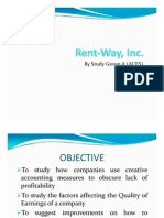 Rent Way managerial accounting