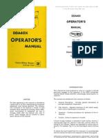 EMD DD40X Operating Manual