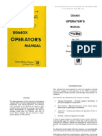 EMD DD40X Operating Manual