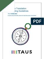 TAUS Machine Translation Post-editing Guidelines