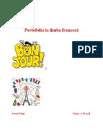 Portofoliu la limba franceză
