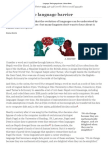 "Language- The language barrier - Nature News"""