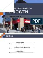 Presentation on Case Study on Wilkinson Growth Strategy