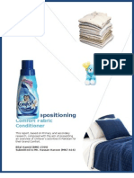 Promotion Analysis and Recommendations on Brand Repositioning of Comfort Fabric Conditioner in Pakistan