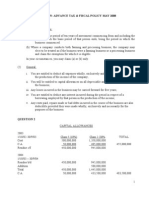 Solution Advance Tax and Fiscal Policy May 2008