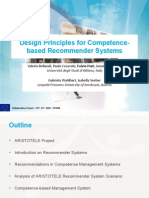Design Principles for Competence-based Recommender Systems