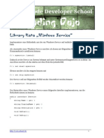 Library Kata Windows Service