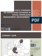 Manifesto for a Standard on Knowledge Exchange in Social Knowledge Management Environments