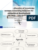 Optimising allocation of knowledge workers to learning measures for competence development