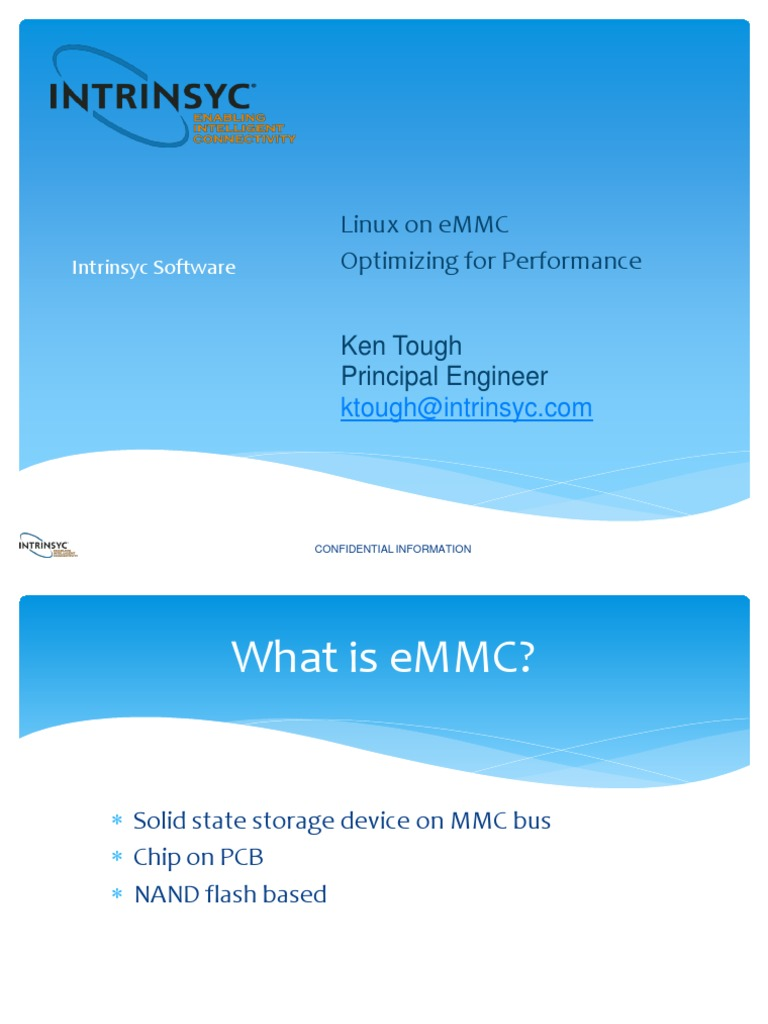 Linux on eMMC- Optimizing for Performance | Flash Memory