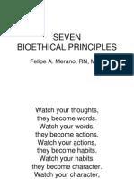 Seven Bioethical Principles